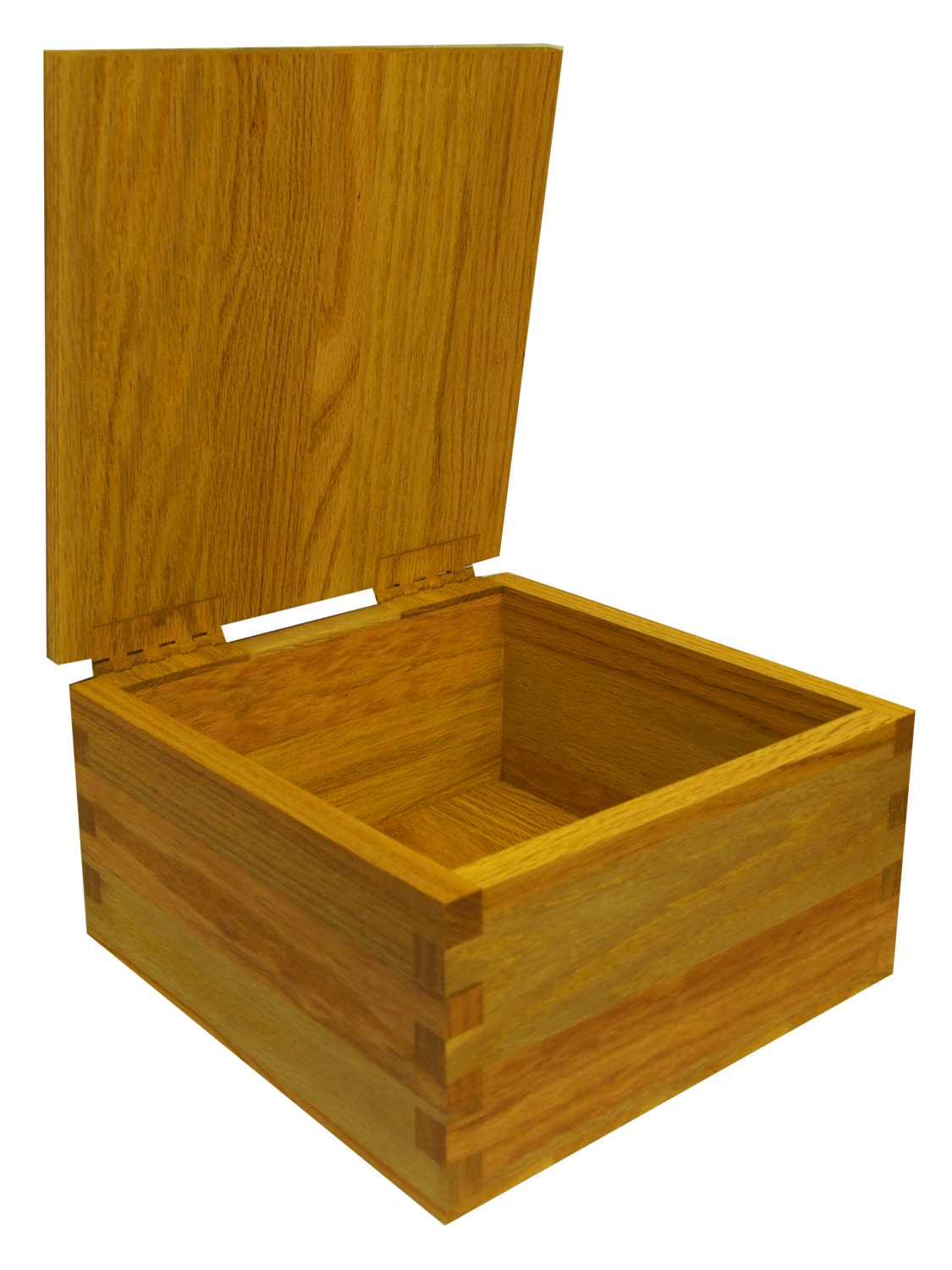 large hinged wooden keepsake memory storage box hinged lid. Black Bedroom Furniture Sets. Home Design Ideas