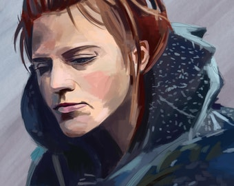 Ygritte Digital Painting A4 Print