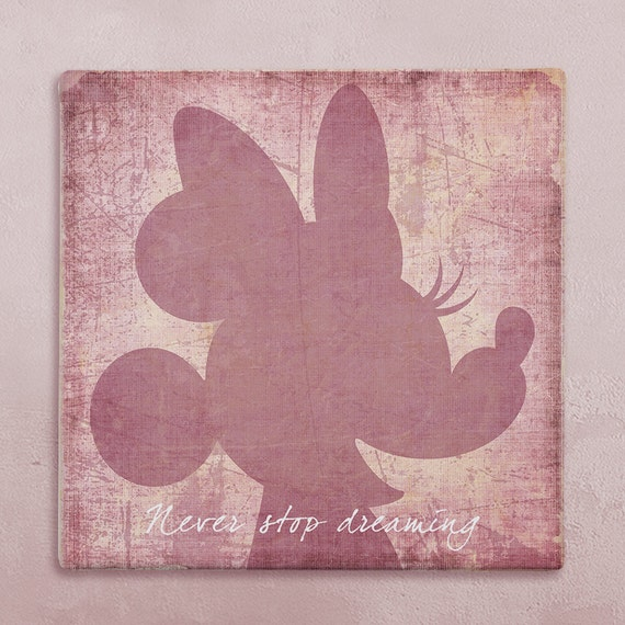 Wall Art Quotes Disney : Items similar to disney wall art canvas in vintage style