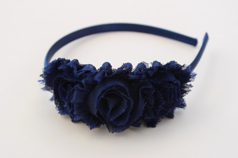 Navy Blue Headbands Navy Blue Flower Girl Headbands Girls