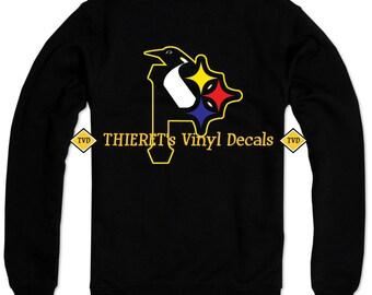 Pittsburgh Sports Teams Tri Logo Vinyl Car Decal Laptop Decal