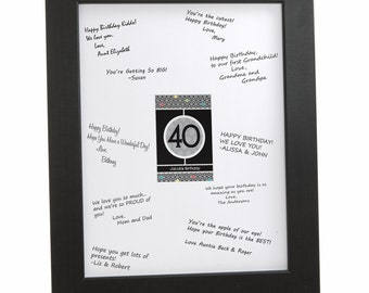 40th Birthday Party Signature Mat for a Birthday Party Guest Book