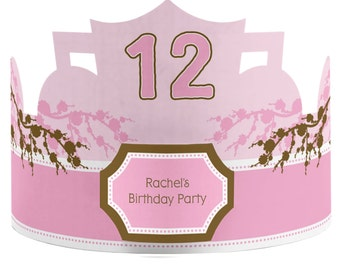 8 Custom Party Hat - Cherry Blossom Birthday Party Supplies - Set of 8