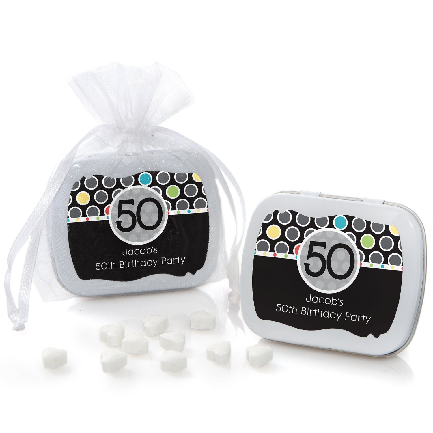 50th Birthday Party Favors For Adults Mint Tin Supplies