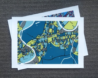 2 Limited Edition Art Maps - Contemporary Giclée Prints - Your choice - 5% Off!