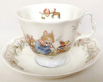 """Brambly Hedge """"The Birthday"""" tea cup and saucer - Royal Doulton - 1987"""