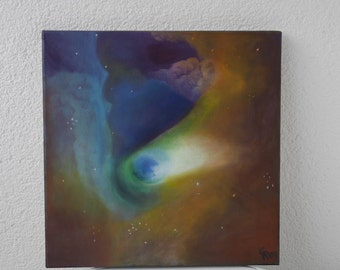 The outer space, oilpainting
