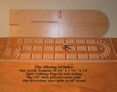 Acrylic cribbage board drilling template. 1/4 inch thick clear acrylic with shape and size options.