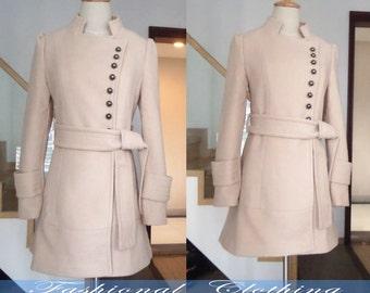pink blue khaki coat wool coat winter coat spring autumn coat warm coat women clothing women coat long sleeve coat jacket outerwear dress