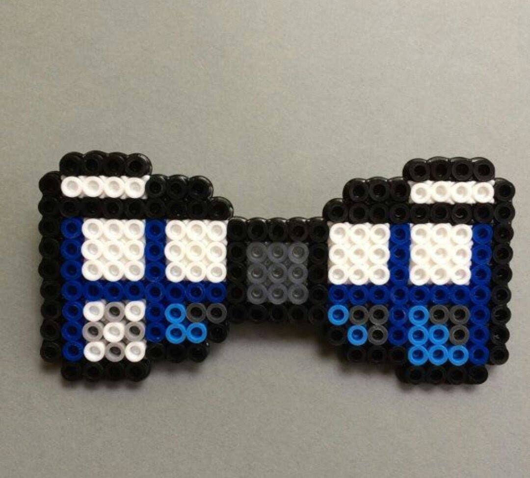 dr who tardis bow tie by creationsbysarahs on etsy