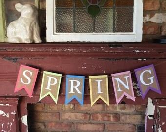 SPRING Banner-Multicolored Pastel Spring Banner
