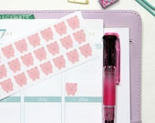 30 Front Pig/Piggy Bank Stickers! Perfect for your Erin Condren Life Planner, Filofax, Plum Paper & other planner or scrapbooking! #SQ00389