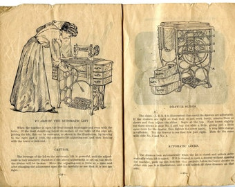A Free Number 3 Sewing machine manual (partial)