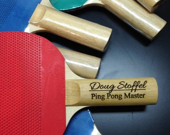 Personalized Ping Pong Paddle - your name engraved!