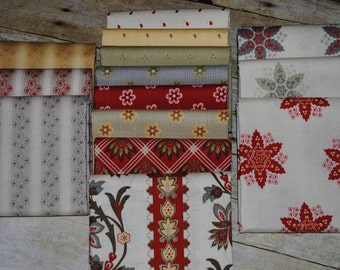 A French Courtyard Fat Quarter Bundle of 14 pieces by Riley Blake Cotton Woven