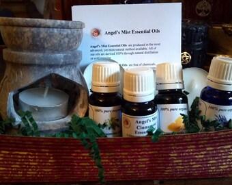 Essential Oil Sampler, Essential Oils, Essential Oils Kit, Angel's Mist Essential Oils, Aromatherapy Oils, 100% Pure Essential Oils, Oils