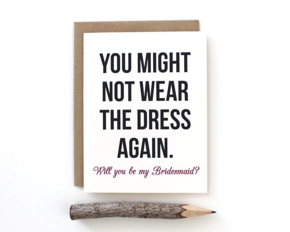 Will You Be My Bridesmaid Card Brides Maid Funny By