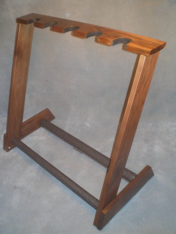 5 space guitar stand-Custom made from Premium AAA American WALNUT