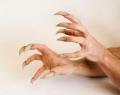 Sabretooth/Monster/Werewolf/Venom Claws - Hand Sculpted and Distressed - Comfortable and Easy to Apply!