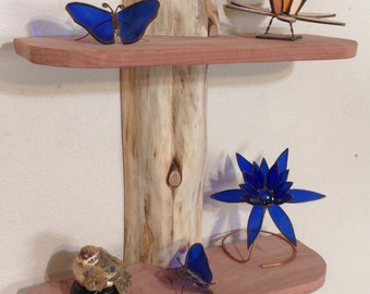 Rustic Cedar Wood Log Shelf / Cabin / Lodge Decor / Log Furniture / wall shelves