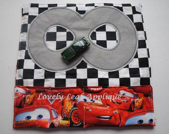 DIGITAL ITEM: Toy Car Roll Up Tutorial AND Race Track Applique Design