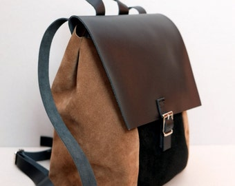 SALE !!! GENUINE LEATHER Rucksack, bag, backpack, leather backpack, leather bag, leather rucksack