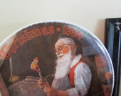 Santa in his workshop Plate | Vintage Norman Rockwell | Christmas decorations |1984 | collector's plate | wall art | holiday plate
