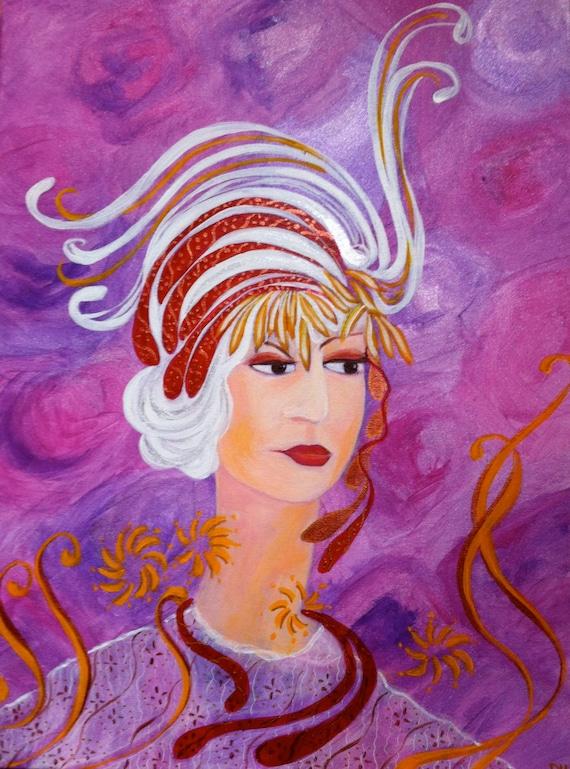 articoli simili a pittura moderna acrilico su tela