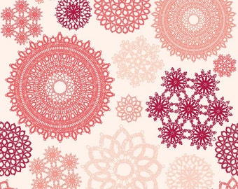 Doily Fabric, Valentines Day Quilt  Fabric, Riley Blake Fabric C4200 Pink, Lost & Found Love, Doily Quilt Fabric, My Minds Eye, Cotton