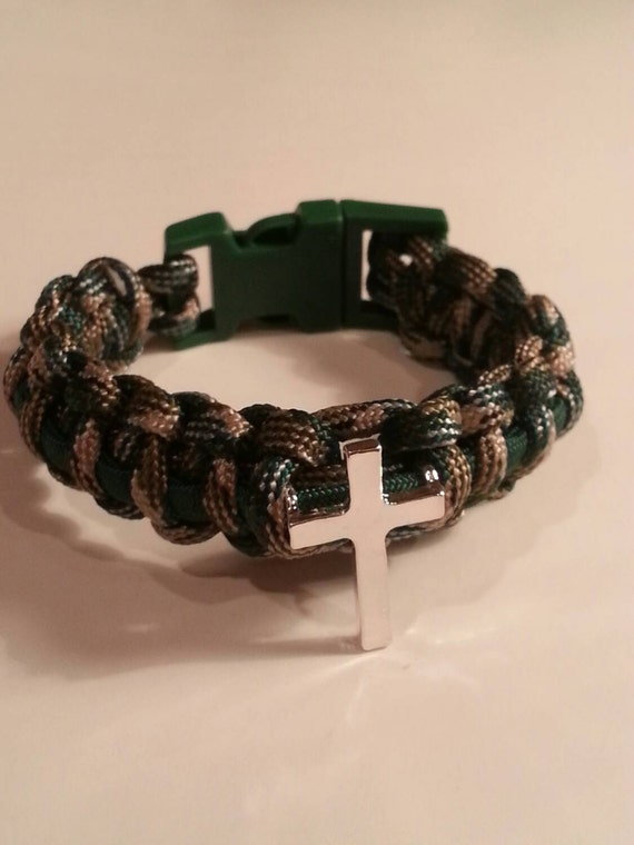 items similar to unisex cross paracord bracelet on etsy