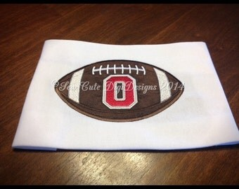 Ohio State Buckeyes Football Applique Design