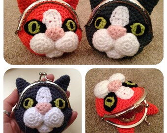 Cat Coin Purse Crochet Pattern