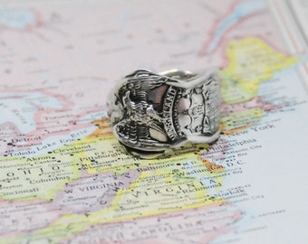 maryland ring, spoon ring,  american ring,  eagle ring
