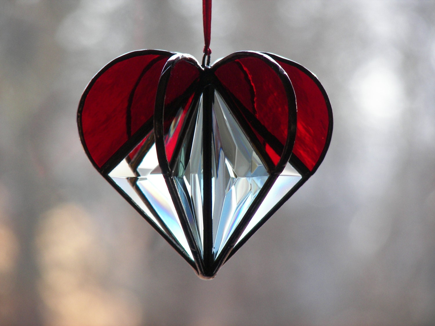 Red Stained Glass : Chandeliers pendant lights