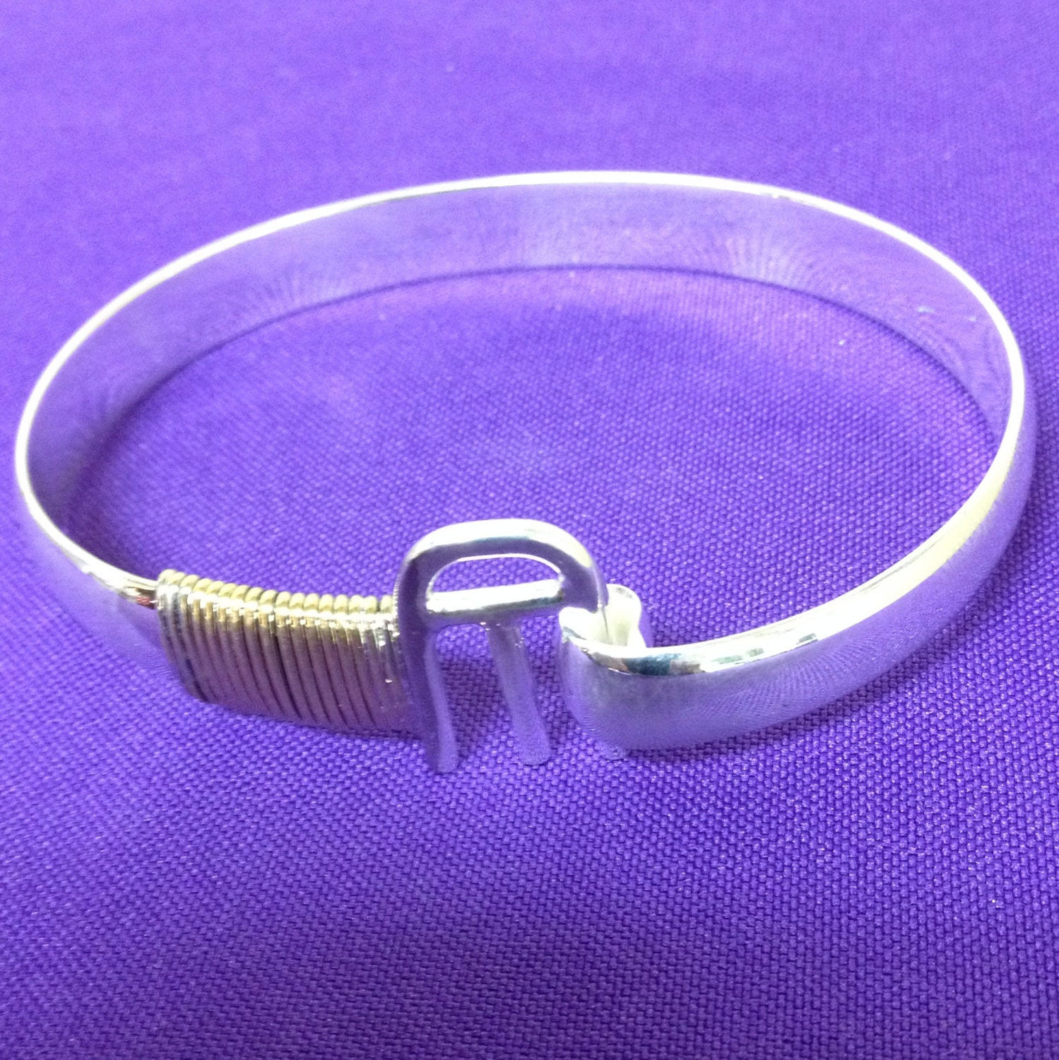 arch bracelet in mixed metal with st croix by annpedenjewelry