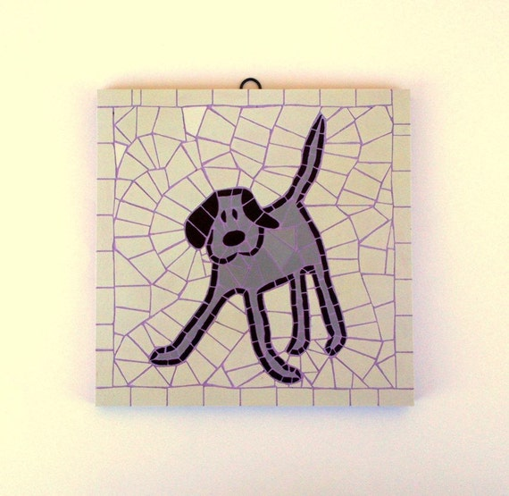 Mosaic Dog Wall Hanging