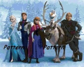 Frozen. Cross Stitch Pattern. PDF Files.