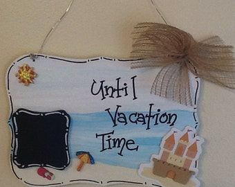 Vacation countdown sign, vacation door sign, vacation sign, beach countdown sign, beach sign, summer countdown ding, summer door sign