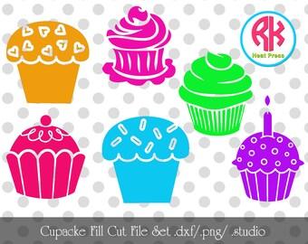 Cupcake Fill Cut Files .PNG, .DXF,