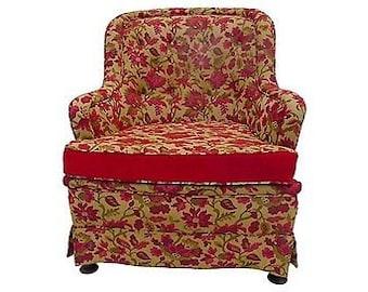 """SALE! Org 395.00 Vintage Bohemian Style Club Chair 31""""W X 31""""L X35""""H"""