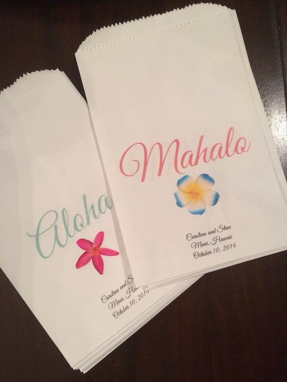 to Wedding Hawaii favor bags. Set: 10 Aloha and 10 Mahalo Treat Bags ...