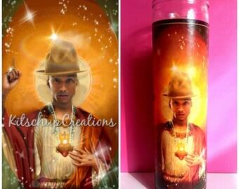 Pharrell Williams prayer candle