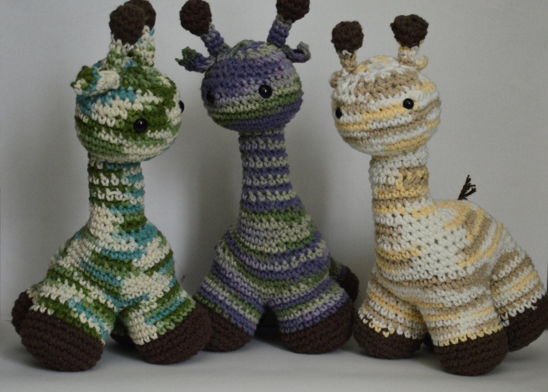 Amigurumi Cotton Yarn : Giraffe amigurumi with variegated yarn