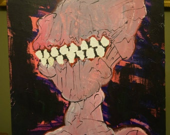 It's got Teeth! (Painting)(14x18)