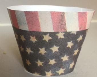 Patriotic Cupcake Wrappers