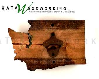 Washington Wood Cut-out Bottle Opener - Wall Mount - Handmade!