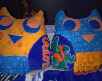 Pair of Stuffed Owls