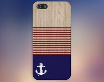 American Sailor x Striped Wood Case for iPhone 8 6 Plus iPhone X  Samsung Galaxy s8 edge s6 and Note 8  S8 Plus Phone Case, Labor Day