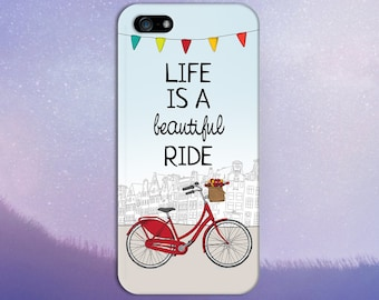 Life is a Beautiful Ride x Red City Bike Design Case for iPhone 6 6 Plus iPhone 7  Samsung Galaxy  & s7 and Note 5  S8 Plus Phone Case