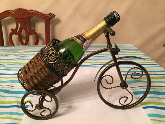 Vintage Metal Wine Holder Wine Rack Bicycle By Usacraftseller